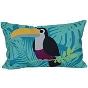 Outdoor Oasis™ Toucan Oblong Pillow