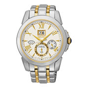 Seiko® Mens Kinetic Perpetual Two-Tone Watch SNP066