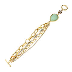 Worthington® Mint Stone Multi Chain Bracelet