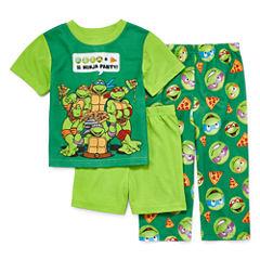 Boys 3-pc.Short Sleeve Teenage Mutant Ninja Turtles Kids Pajama Set-Toddler