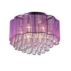 Warehouse Of Tiffany Erida 6-Light Chrome CeilingLamp