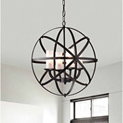 Warehouse Of Tiffany Mandisa 4-light Black-finish18-inch Chandelier