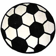 Soccerball Round Rugs