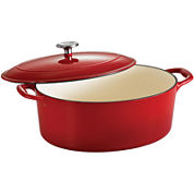 Tramontina® Gourmet 7-qt. Enameled Cast Iron Covered Oval Dutch Oven