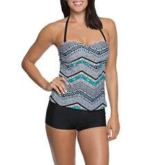 Aqua Couture Molded Tankini or Solid Swim Shorts