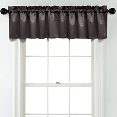 JCPenney Home Matte Satin Rod Pocket Unlined Tailored Valance