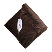 Serta Shimmer Stripe Heated Electric Blanket
