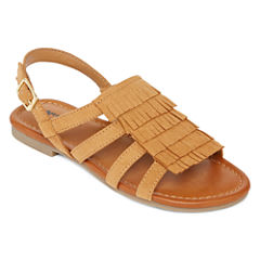 Arizona Fran Girls Fringe Sandals - Little Kids