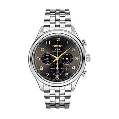 Seiko Mens Silver Tone Bracelet Watch-Ssc563
