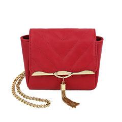 Olivia Miller Madelyn Quilted Gold Tassel Crossbody Bag