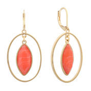 Monet Jewelry Orange Drop Earrings