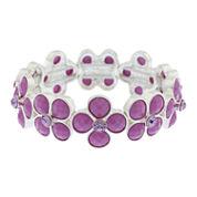 Liz Claiborne Womens Purple Stretch Bracelet