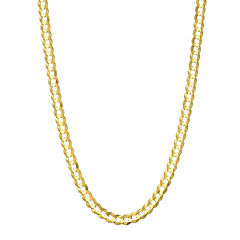 14K Yellow Gold 3.6 MM Curb Necklace 22