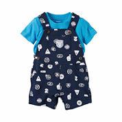 Carter's 2-pc. Short Sleeve Shortall Set-Baby