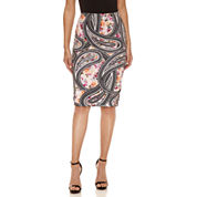 Bisou Bisou Side Tab Pencil Skirt