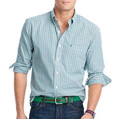 IZOD Button Long Sleeve Slim Essential - Button Front Shirt