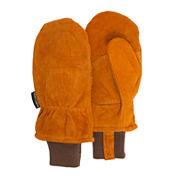 QuietWear® Insulated Split Leather Cuff Mittens