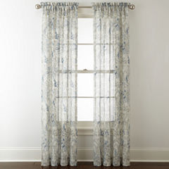 Royal Velvet Cholet Rod-Pocket Sheer Curtain Panel