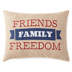 JCPenney Home™ Americana Friends Family Freedom Pillow