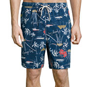 Jamaica Bay® Printed Micro Volley Swim Trunks