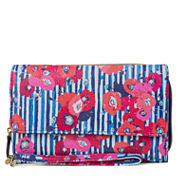 Mundi Big Fat Poppy Stripe Wallet