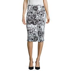 Liz Claiborne Floral Knit Pleated Skirt