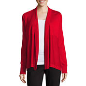 Liz Claiborne® Long-Sleeve Cozy Open Cardigan