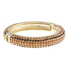 Jardin Brown Crystal Gold-Tone Bangle Bracelet