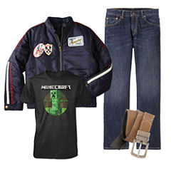 Graphic Tee, Levi's® Jeans, Arizona Moto Jacket or Belt – Boys