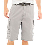 Plugg® Belted Cargo Shorts