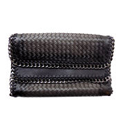 Olivia Miller Whitney Large Woven Zip-Trim Clutch