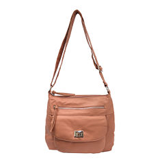 Bueno of California Washed Top-Zip Crossbody Bag