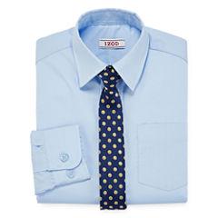 IZOD® Dress Shirt and Clip-On Tie Set - Preschool Boys 4-7