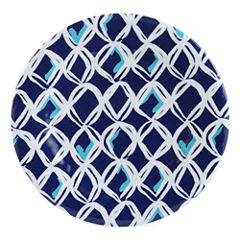 Outdoor Oasis™ Blue Net Set of 4 Melamine Salad Plates