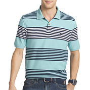 IZOD® Short-Sleeve Heritage Stripe Piqué Polo Shirt
