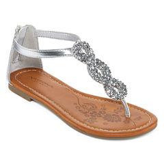 Arizona Hibiscus Girls Strap Sandals - Little Kids