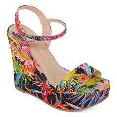 N By Nicole Miller Valerie Womens Wedge Sandals