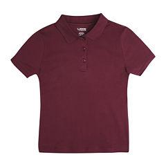 French Toast Short Sleeve Knit Polo Shirt - Toddler Girls