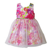 Lilt Short Sleeve Party Dress - Toddler