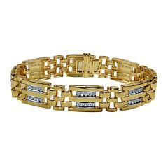 Mens 1 CT. T.W. Diamond 10K Yellow Gold Bracelet