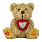 ForeverMine® Teddy Bear Box Set 1/10 CT. T.W. Diamond Sterling Silver Heart Necklace