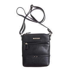 Stone And Co Ns Single Zip Pebble Leather Mini Crossbody Bag