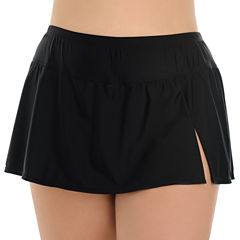 Le Cove Solid Swim Skirt-Plus