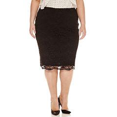 Worthington® Lace Midi Pencil Skirt - Plus