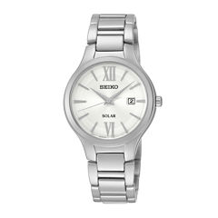 Seiko® Womans Stainless Steel Solar Bracelet Watch SUT207