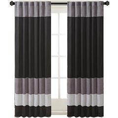 Infinity Polyoni Pintuck-Striped Rod-Pocket Curtain Panel
