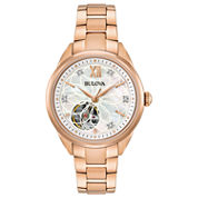 Bulova Womens Rose Goldtone Bracelet Watch-97p121