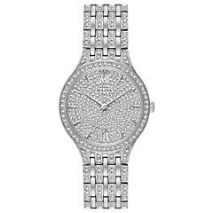 Bulova Womens Silver Tone Bracelet Watch-96l243