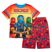 Boys 2-pc. Short Sleeve Lego Kids Pajama Set-Big Kid