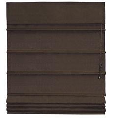 Room Darkening Chocolate Fabric Roman Shade